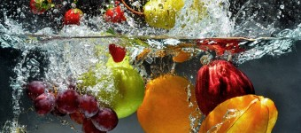 fruit and veg in water